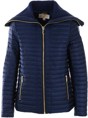 MICHAEL MICHAEL KORS - BLUE TRUE RUFFLE DOWN JACKET