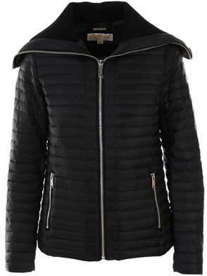 MICHAEL MICHAEL KORS - BLACK TRUE RUFFLE DOWN JACKET