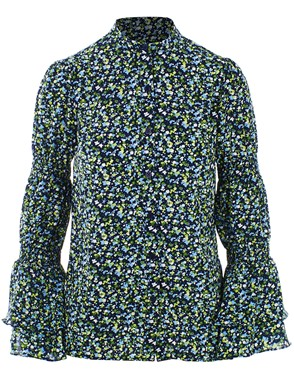 MICHAEL KORS - BLUE AND GREEN TINY WILDFLOWERS SHIRT