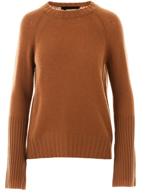 360 CASHMERE - BROWN MAIKEE SWEATER\nCashmere sweater