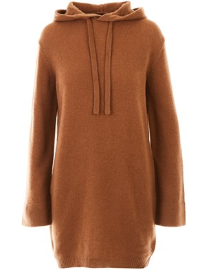 360 CASHMERE - BROWN ALEXINA SWEATER