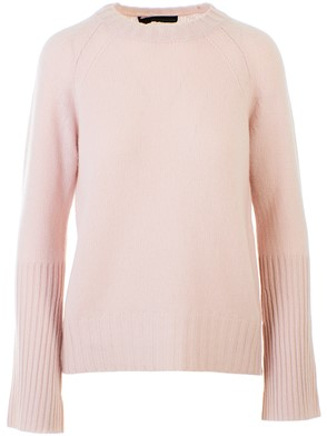 360 CASHMERE - POWDER PINK MAIKEE SWEATER
