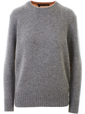 360 CASHMERE - BROWN AND GREY FRANNY SWEATER