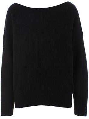 360 CASHMERE - BLACK ONETA SWEATER