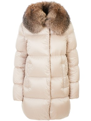 MONCLER - IVORY LORIOT DOWN JACKET\nGoose down jacket\nTWO FRONT POCKETS