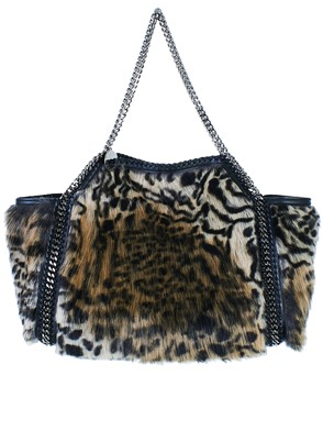 STELLA MC CARTNEY - LEOPARD-PRINT TOTE BAG