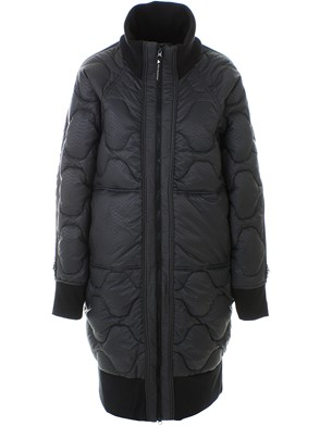 ADIDAS BY STELLA MCCARTNEY - BLACK AND GREY LONG PADDED JKT DOWN JACKET