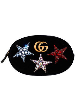 GUCCI - BLACK GG MARMONT BUM BAG