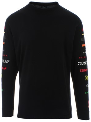MARCELO BURLON COUNTY OF MILAN - BLACK SWEATER