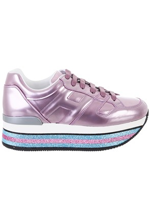 HOGAN - PURPLE MAXI SNEAKERS