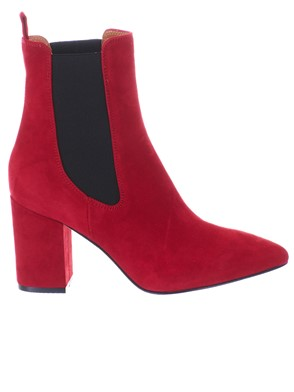PARIS TEXAS - RED ANKLE BOOTS