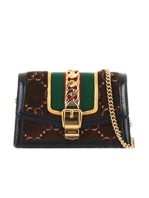 GUCCI - BORSA MINI SYLVIE MARRONE