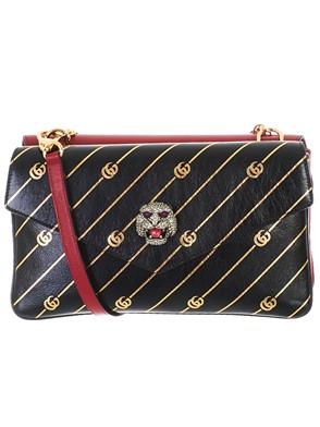 GUCCI - BLACK AND RED THIARA BAG