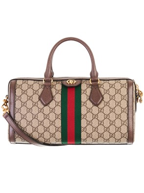 GUCCI - BROWN OPHIDIA BOWLING BAG