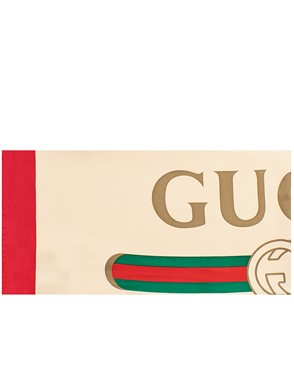 GUCCI - RED AND BEIGE FOULARD