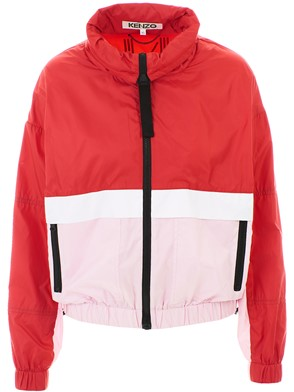 KENZO - RED AND PINK WINDBREAKER