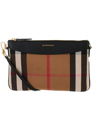 BURBERRY - BLACK PEYTON BAG