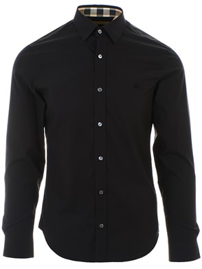 BURBERRY - BLACK CAMBRIDGE SHIRT