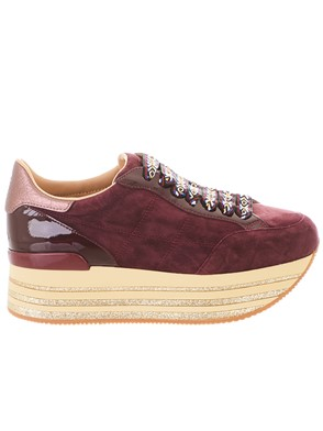 HOGAN - BURGUNDY MAXI SNEAKERS