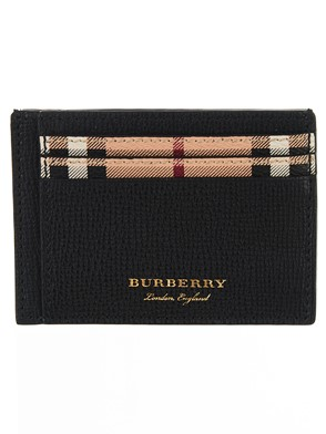 BURBERRY - BLACK BERNIE CARD HOLDER