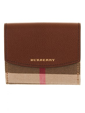 BURBERRY - BROWN LUNA WALLET