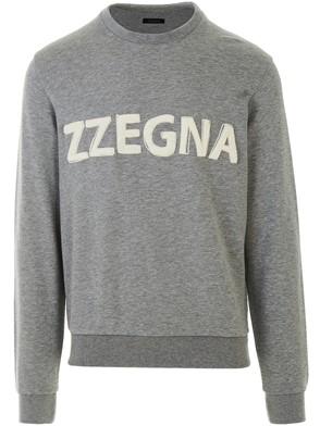Z ZEGNA - FELPA GRIGIO COTT/LYOCELL