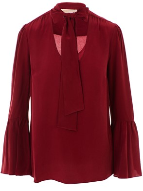 MICHAEL KORS - BURGUNDY BELL BLOUSE