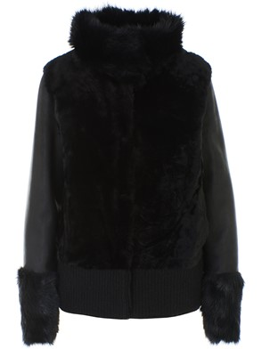 DIEGO M - BLACK SHEEPSKIN COAT