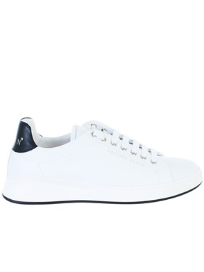 PHILIPP PLEIN - WHITE LO-TOP SNEAKERS