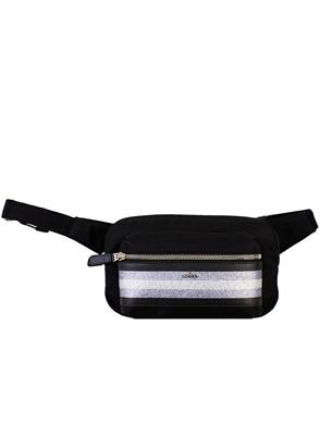 HOGAN - BLACK BUM BAG