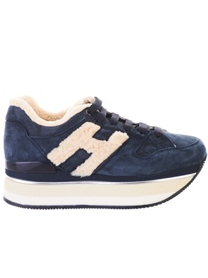 HOGAN - BLUE H394 MAXI SNEAKERS