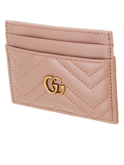 03c5992e1349b2 gucci ANTIQUE PINK GG MARMONT CARD HOLDER available on lungolivigno ...