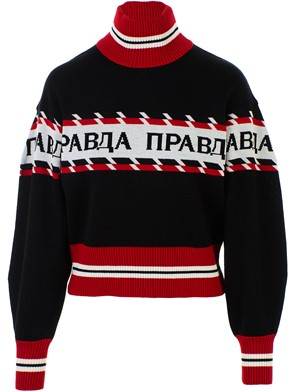 MSGM - BLACK AND RED SWEATER