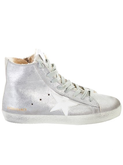 golden goose deluxe brand SILVER FRANCY SNEAKERS available on ... 92b797561da