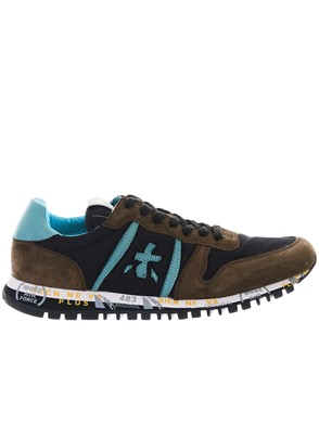 PREMIATA - BLACK AND BROWN PRINCE SNEAKERS