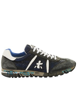 PREMIATA - GREY AND BLUE LUCY SNEAKERS