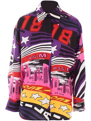 MSGM - MULTICOLOR SKYLINE POP SHIRT