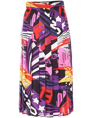 MSGM - MULTICOLOR SKYLINE POP SKIRT