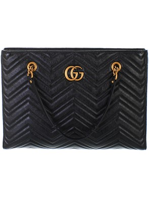 GUCCI - BLACK GG MARMONT BAG