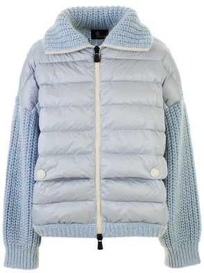 MONCLER - LIGHT BLUE MOHER SWEATER