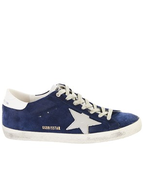 GOLDEN GOOSE DELUXE BRAND - BLUE SUPERSTAR SNEAKERS