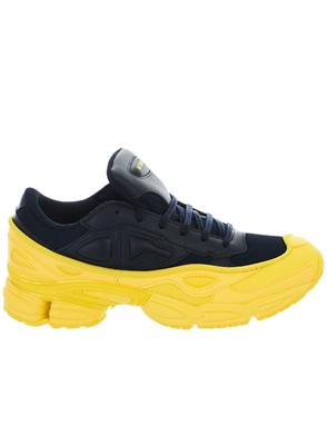 ADIDAS BY RAF SIMONS - BLUE AND YELLOW OZWEEGO SNEAKERS