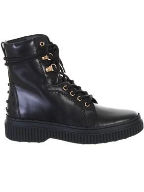 TOD'S - BLACK COMBAT BOOTS
