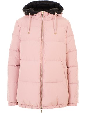 DIEGO M - BLACK AND PINK DOWN JACKET