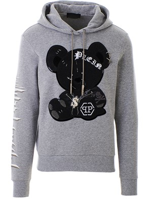 PHILIPP PLEIN - GREY TEDDY BEAR SWEATSHIRT