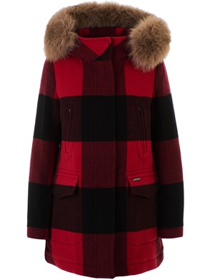 WOOLRICH - RED AND BLACK WS MACKENZIE PARKA