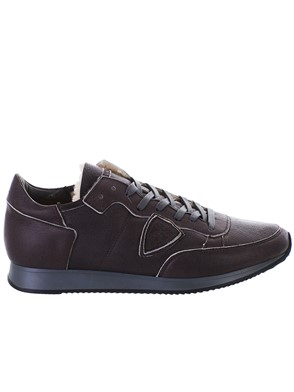 PHILIPPE MODEL - SNEAKER TROPEZ MARRONE
