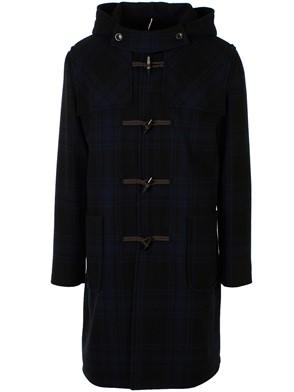 LARDINI - BLACK AND BLUE DUFFEL COAT