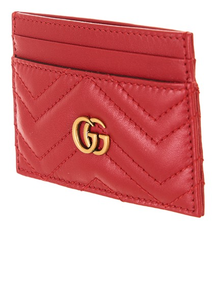 412fae7291a gucci RED GG MARMONT CARD HOLDER available on lungolivigno.com - 27020