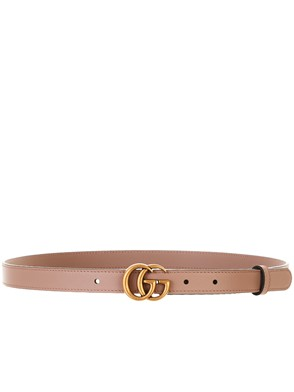 GUCCI - ANTIQUE PINK GG MARMONT BELT